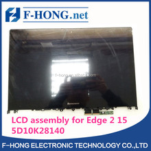 New 5D10K28140 5D10J34211 For Lenovo Edge 2 15 LCD Assembly Touch Screen With Bezel LP156WF6-SPK1 FHD 1920*1080