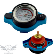 Universal Radiator Cap with Temperature Gauge