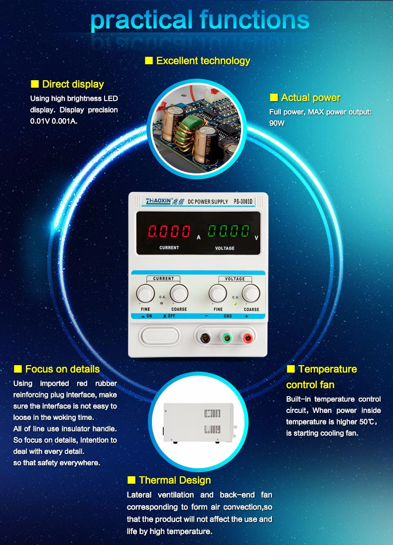Shenzhen zhaoxin high precision dc power supply for test