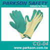 Taiwan Outstanding Grip Slip Resistant Construction Green Rubber Coating Safety Glove CG-04 Hand Protection