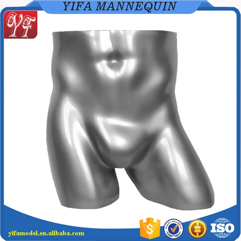 High Quality Bust Type Fiber Glass High Glossy Male Underwear Mannequin