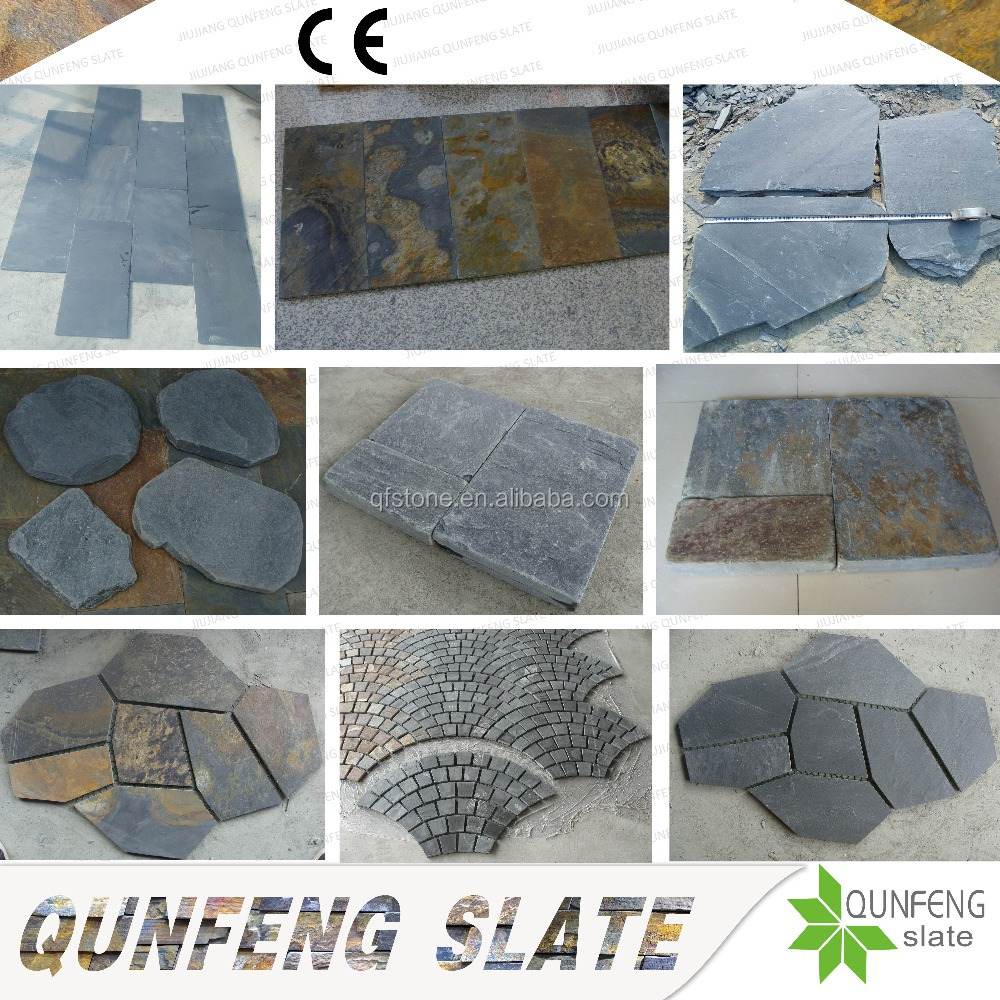 CE Passed Split Surface Non-Slip Antacid Nature Floor Stone Wholesale Slate Tile