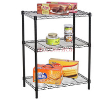 Household storage wire shelving,adjustable square stainless steel wire storage rack
