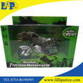 Innovation zoo toy high quality pvc handpainted friction dinosaur Trex motorcycle
