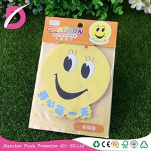 Customized Long Smelling emoji paper air freshener 2mm thickness new car scent