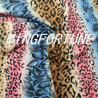 Printing polyamide Spandex Fabric forl lingerie sexy leopard bra and panty