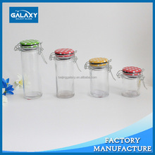 glass spice jars with clamp lids wholesale cheap