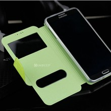 For samsung galaxy note 3 lcd N9000 double window flip case