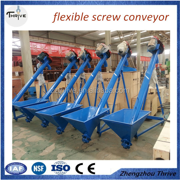Custom made sawdust flexible screw conveyor/wood powder screw conveyor with good quality