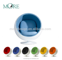 Modern fiberglass ball chair with eye ball chair Living Room Chair