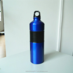 New fashion trade hot selling aluminum drinking wate bottle with hot insulation silicon