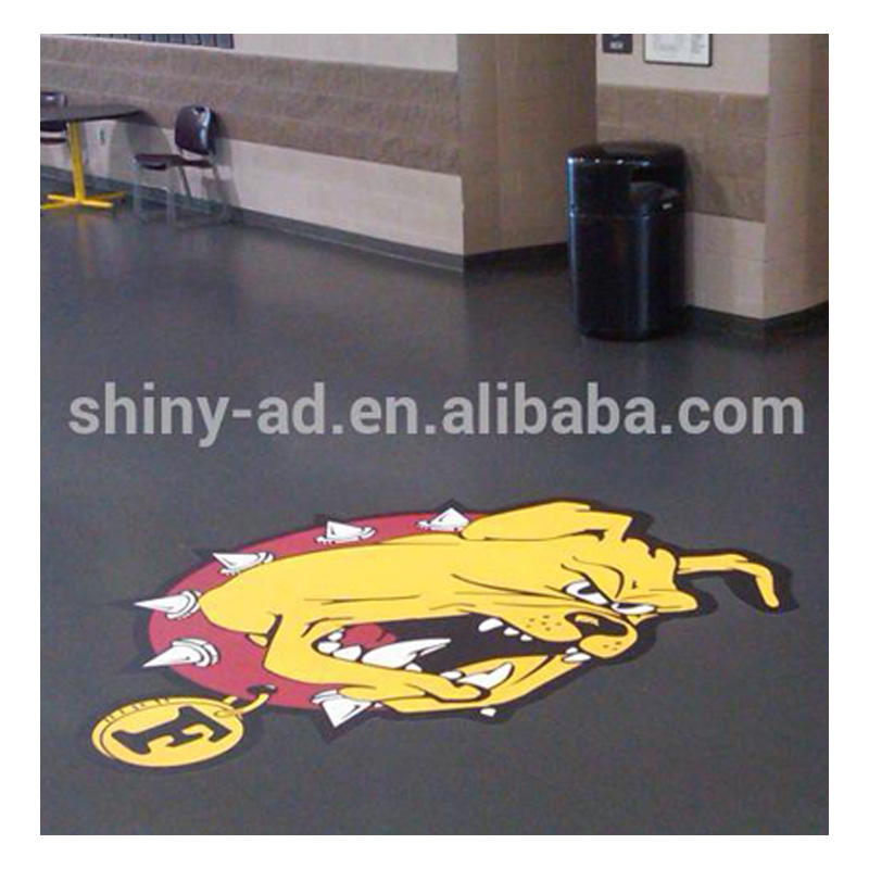 floor decals Style and Vinyl Sticker Type 3d floor art stickers posters