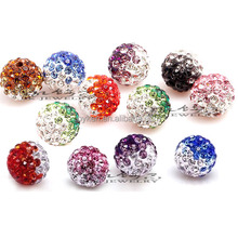 10mm Crystal Pave Clay Disco Shamballa Beads For Jewlery Making