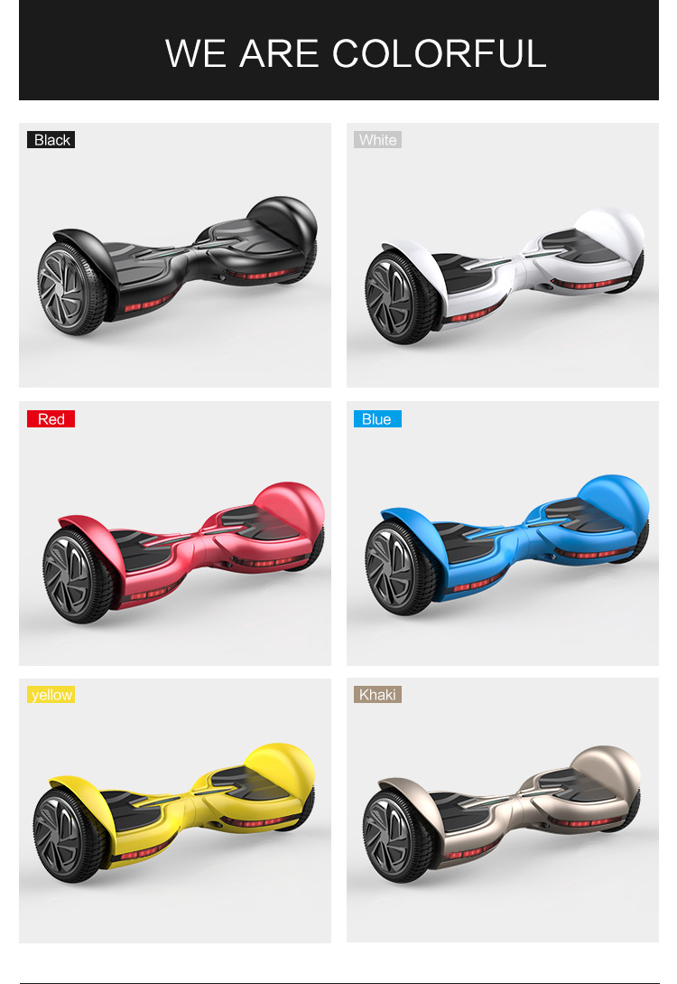 UL2272 6.5Inch 2wheels scooter self balancing Hoverboard