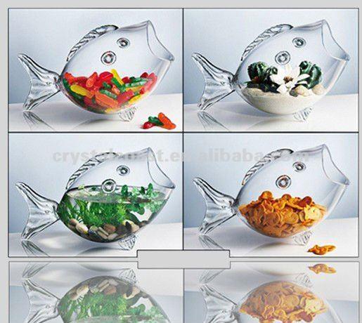 Decorative mini clear large wholesale glass fish bowls for Decorative fish bowls