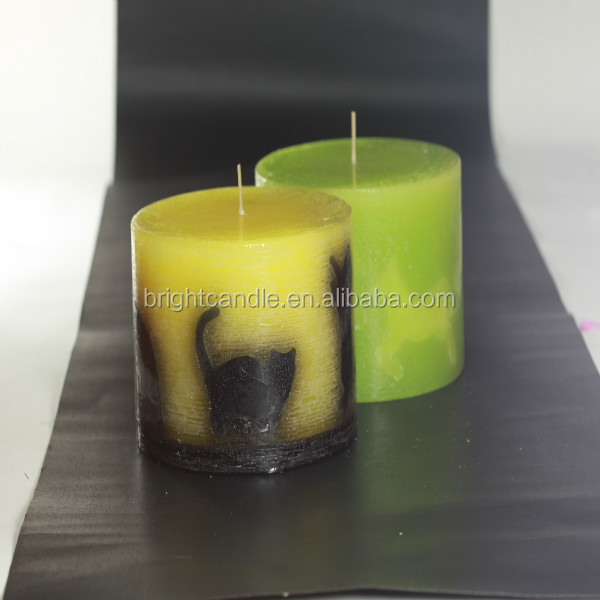 christmas deer pillar candles