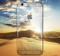 For Apple iPhone 6s iphone 6 plus Case Ultra Thin Ocean Beach Desert Scenery Landscape Transparent TPU Phone Cases Cover