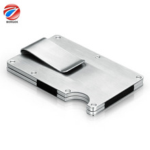 Factory Direct Sales Stainless Steel Credit Card Case Holder Wallet / Metal Card Holder with RFID Function