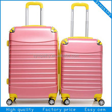 ABS luggage with rubber paint matt finish TSA LOCK