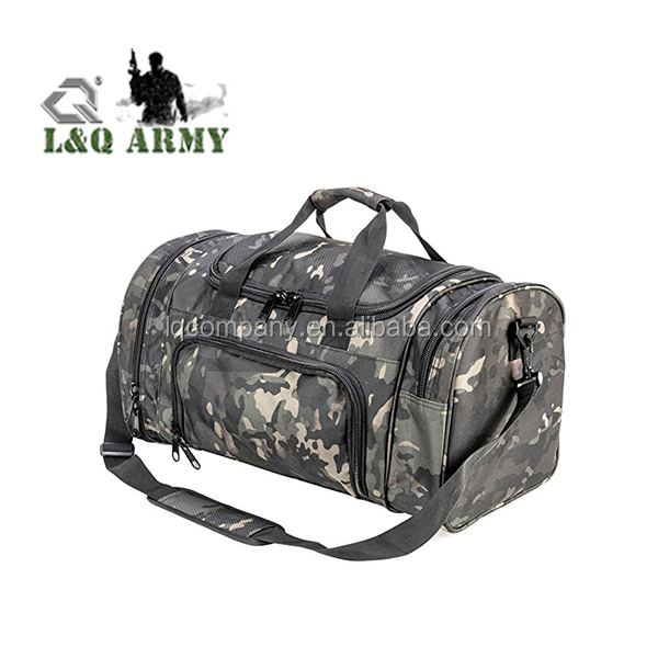 Camo Tactical Shoulder Bag Sports Gym Duffle Carry Strap Tote Bag