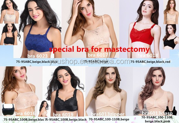 Sexy Lace Cotton Liner Prosthesis Bra for Mastectomy Women Fake Silicone Breasts Forms Direct Manufacturer Supply Best Price New