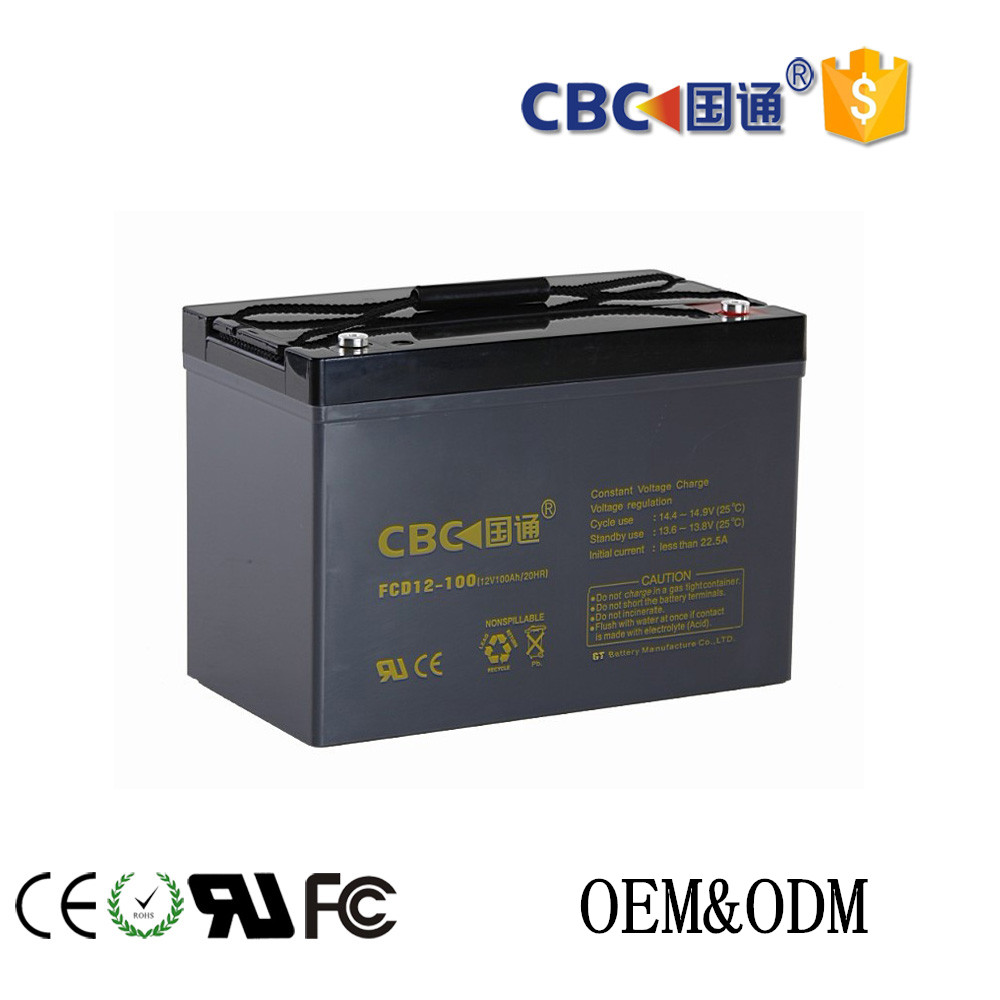 CBC Guotong 12V100ah sealed deep cycle battery batteries for electric power tool