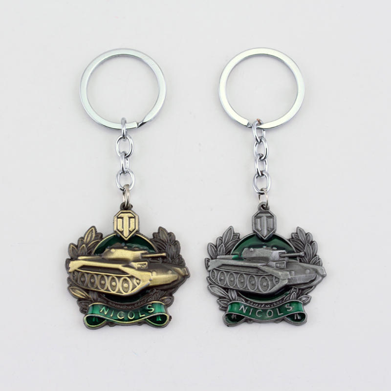 Wot Game World Of Tanks KeyChain Alloy Metal Tank Model Pendent Keyring Gift Keyring For Car Fans Souvenirs