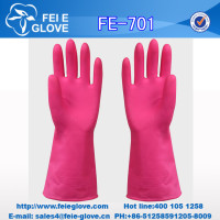 pink waterproof PVC oil-resistant working safety gloves