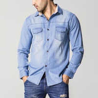 d83552f 2016 long sleeve denim shirt fashion casual shirts designs for men