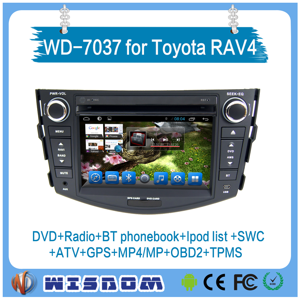 Newest car dab radio for toyota rav4 with dvd gps full screen touch support mobile connector 2 din 7 inch car dvd player wifi