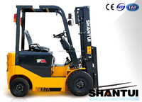 Shantui four wheel China electric fork lift with DC motor