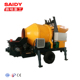 capacity 30m3/h 450K drum mixer small portable concrete mixer and pump for sale