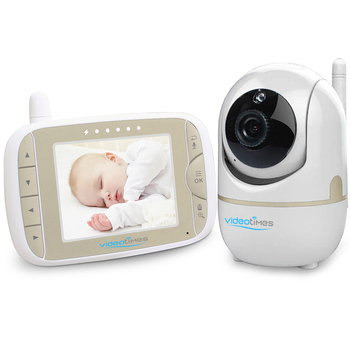 2019  3.2 Inch LCD display radio digital video baby monitor, Two-way talkback system with remote pan tilt, monitor bebe