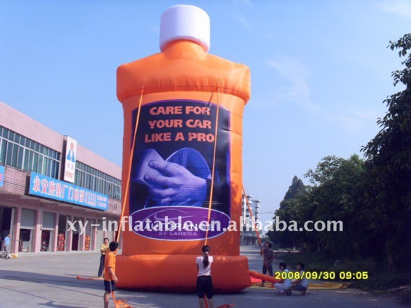 Extra large product model inflatable for advertising, inflatable bottle