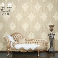 luxury high foamed big follower non-woven wallpaper for hotel living room dining room decoration