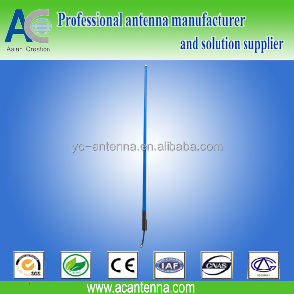 Outdoor antenna with protective covering for receiver provided with RG-58 cable