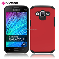 IVYMAX hot sell cellphone accessories protective hybrid combo back cover case for samsung galaxy J2 2016J210