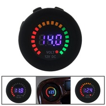 Car Motorcycle Waterproof Blue LED Digital Panel Display Voltmeter Voltage Volt Meter Gauge DC 12V-24V