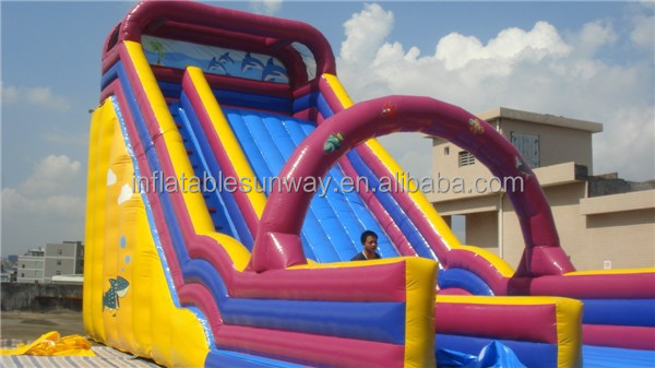 Ocean Theme Giant Inflatable Slide / Blow Up Arch Inflatable Sldie Outdoor