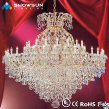 Hotel lobby beaded warm colour high end crystal chandelier
