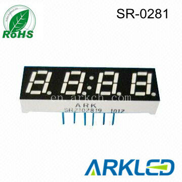 0.28'' four digit Clock Display, led dispplay for clock use