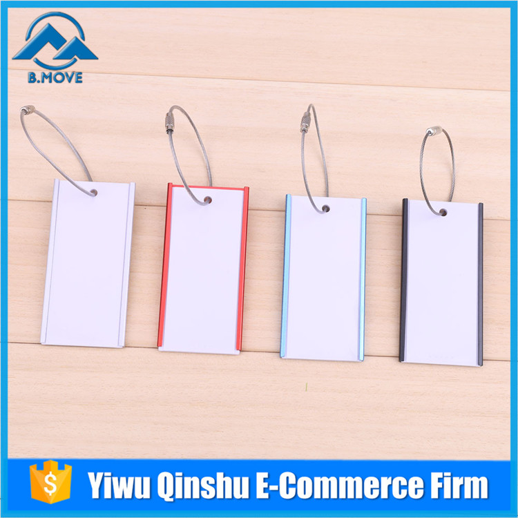 Latest Arrival Silvery Metal Aluminium Travel Baggage Luggage Tags Top Quality Steel Wire Belt Silvery on sale