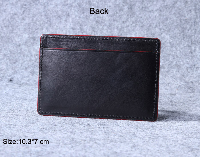 custom leather credit card holder/personalized dark brown leather atm card wallet/luxury business card case birthday present