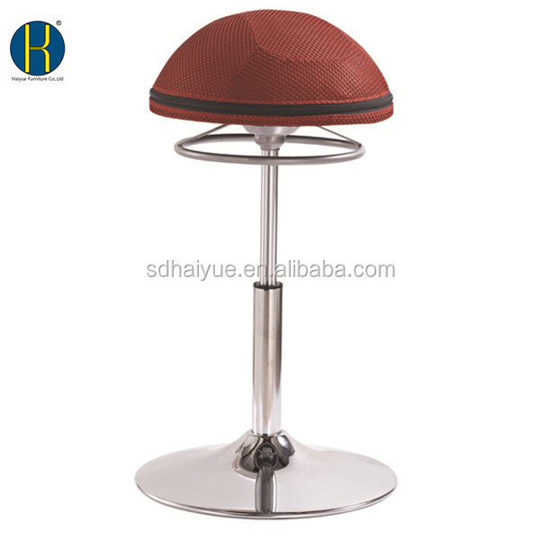 Half Ball Air Cushion Seat Chair Office Exercise Chair Red Fabric HY3001H