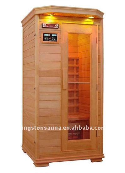 Far infared sauna room with lights and Canadian Red Cedar material