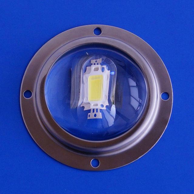 56mm 10w 20w 30w Led glass optical lens for COB leds