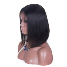 Non-Remy human hair full lace 8 inch bob wig from chinese hair wig store