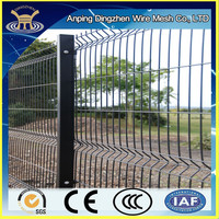 Elegant standard vinyl coated black welded wire fence mesh panel China fence