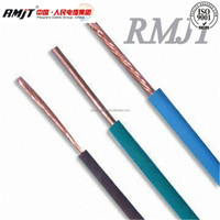 Copper core pvc insulated cable/ electr cabl with gold supplier
