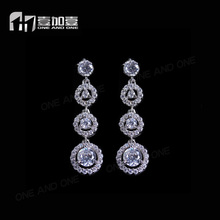 bridal aaa cz drop earrings in 925 sterling silver for vintage inspired wedding